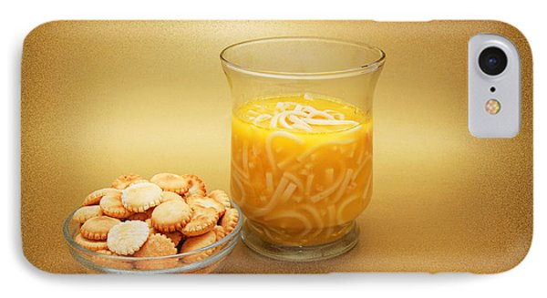 Cup O Soup And Oyster Crackers Phone Case by Andee Design