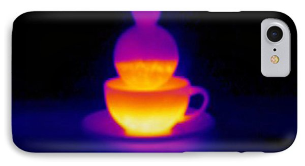 Cup Of Tea, Thermogram Phone Case by Tony Mcconnell
