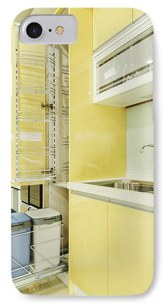 Cupboard With Stainless Steel Racking IPhone Case