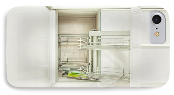 Cupboard With Stainless Steel Racks IPhone Case