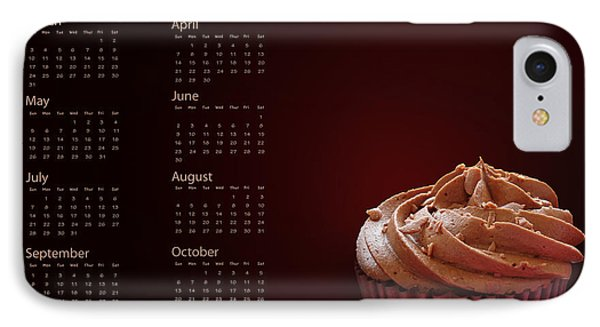 Cupcake Calendar 2013 IPhone Case