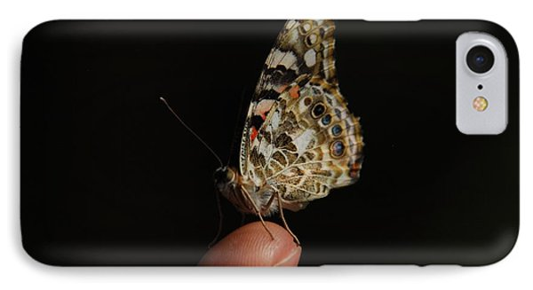 IPhone Case featuring the photograph Curious Butterfly by Tam Ryan