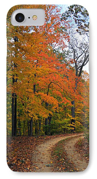 Curve In Fall Phone Case by Marty Koch