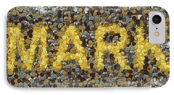 Custom Mark Mosaic Coins Phone Case by Paul Van Scott