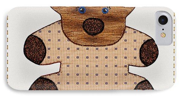 Cute Country Style Teddy Bear Phone Case by Tracie Kaska