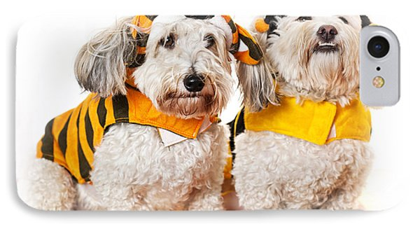 Cute Dogs In Halloween Costumes Phone Case by Elena Elisseeva