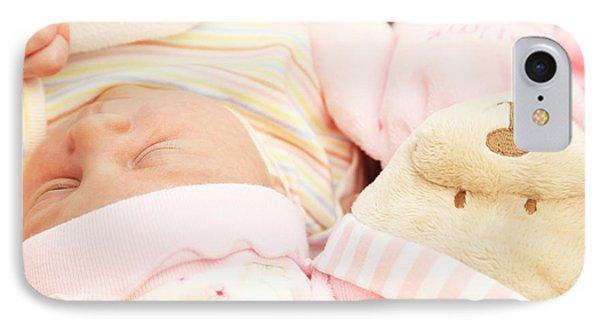 Cute Little Baby Sleeping Phone Case by Anna Om