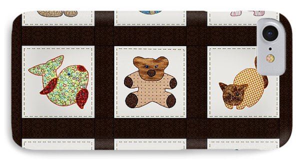 Cute Nursery Animals Baby Quilt Phone Case by Tracie Kaska