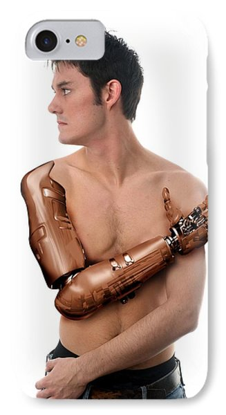 Cybernetic Arm, Composite Image Phone Case by Victor Habbick Visions