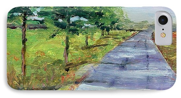 IPhone Case featuring the painting Cypress Lane by Carol Berning
