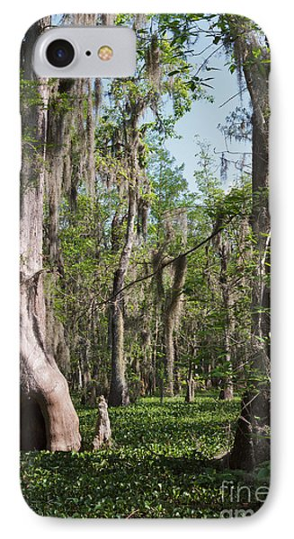 Cypress Trees And Water Hyacinth In Lake Martin Phone Case by Louise Heusinkveld