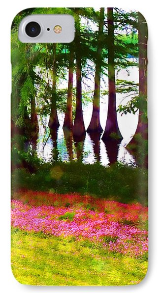 Cypress With Oxalis IPhone Case by Judi Bagwell