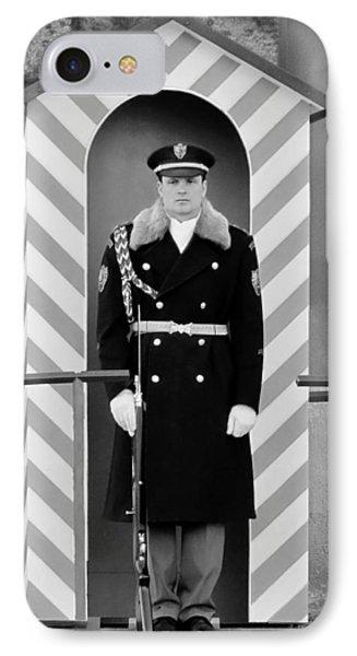 Czech Soldier On Guard At Prague Castle Phone Case by Christine Till