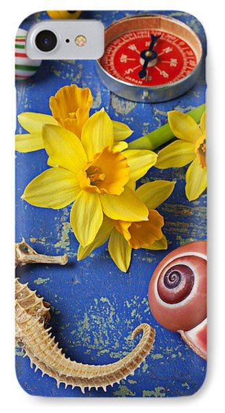 Daffodils And Seahorse IPhone 7 Case