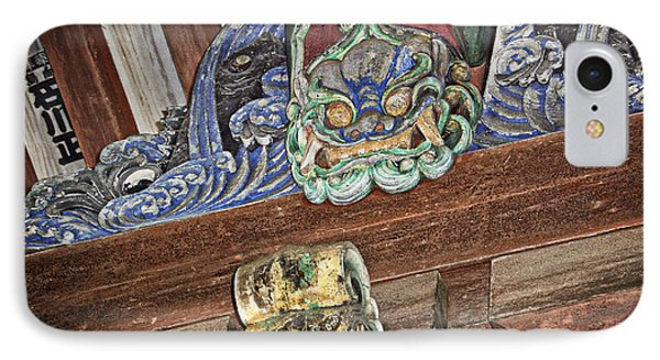 Daigoji Temple Gate Gargoyle - Kyoto Japan Phone Case by Daniel Hagerman