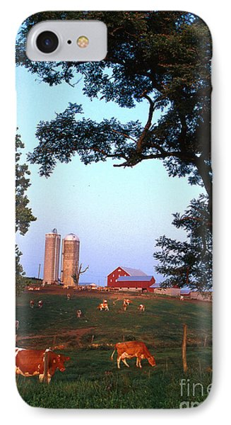 Dairy Farm Phone Case by Photo Researchers