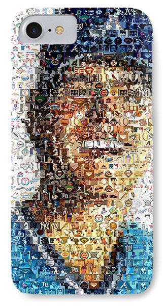 Dale Murphy Mosaic Phone Case by Paul Van Scott