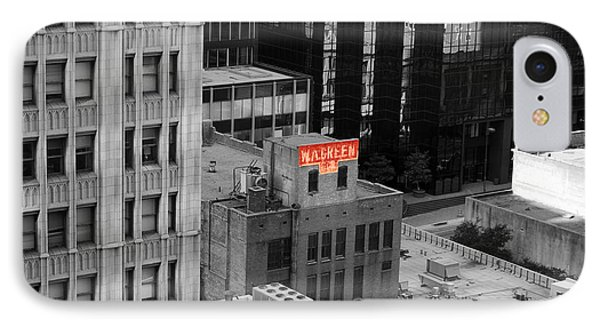 IPhone Case featuring the photograph Dallas Texas Red Color Splash Black And White by Shawn O'Brien