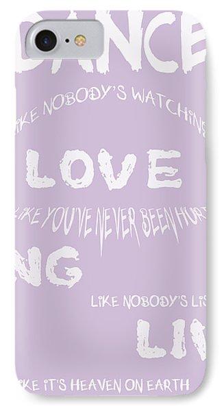 Dance Like Nobody's Watching - Lilac Phone Case by Georgia Fowler