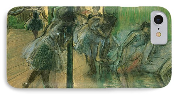 Dancers Rehearsing IPhone Case by Edgar Degas