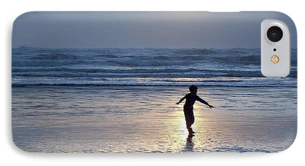 IPhone Case featuring the photograph Dancing Boy At Sunset by Peter Mooyman