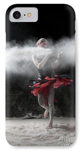 Dancing In Flour Series Phone Case by Cindy Singleton