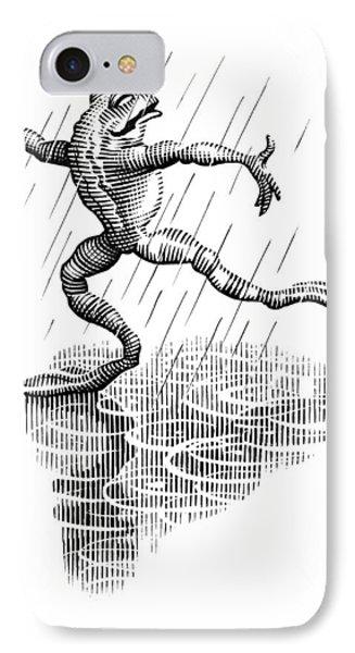 Dancing In The Rain, Conceptual Artwork Phone Case by Bill Sanderson