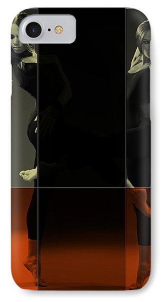 Dancing Mirrors IPhone Case by Naxart Studio