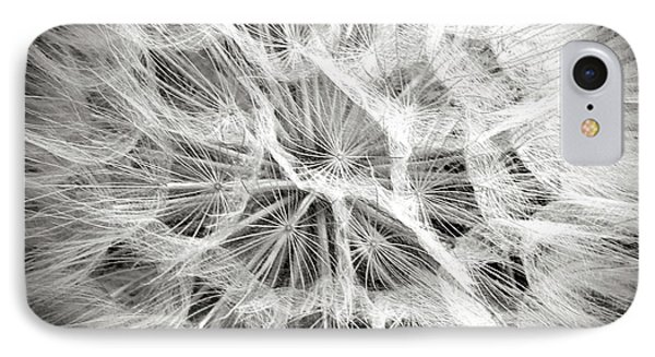 Dandelion In Black And White IPhone Case by Endre Balogh