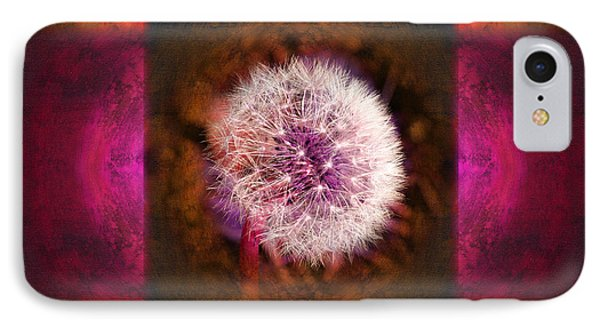 Dandelion In Flame IPhone Case by Laura Iverson