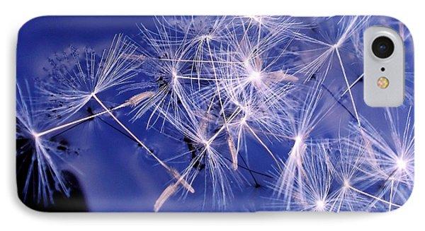 Dandelion Seeds Floating On Water Phone Case by Kaye Menner
