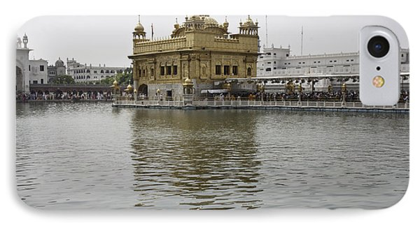 Darbar Sahib And Sarovar Inside The Golden Temple IPhone Case by Ashish Agarwal