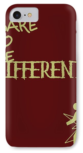 Dare To Be Different Phone Case by Georgia Fowler