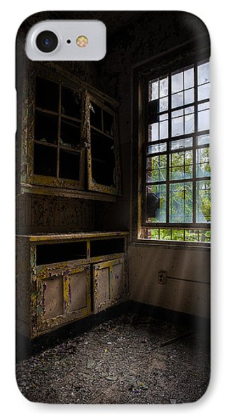 Dark And Empty Cabinets Phone Case by Gary Heller