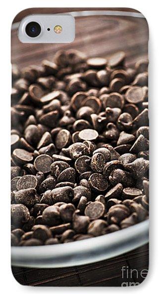 Dark Chocolate Chips IPhone Case by Elena Elisseeva