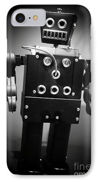 Dark Metal Robot Phone Case by Edward Fielding