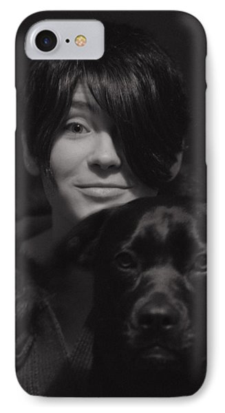 Daughter And Dog IPhone Case by Susan Capuano