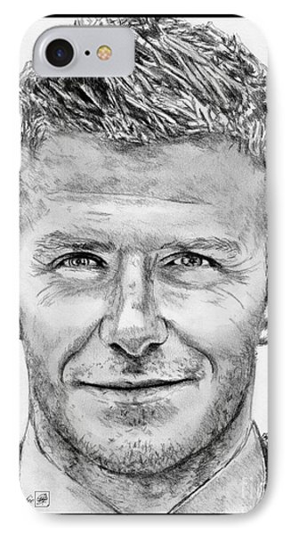David Beckham In 2009 Phone Case by J McCombie