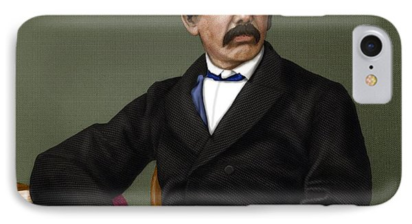 David Livingstone, Scottish Explorer Phone Case by Maria Platt-evans