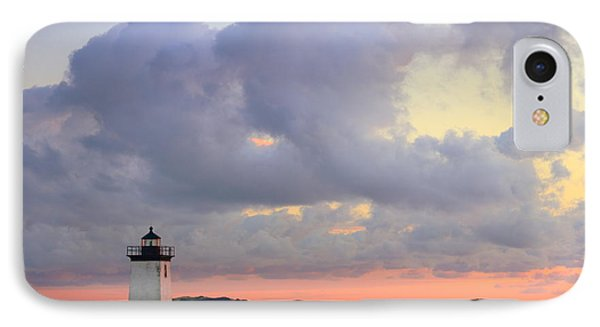 Dawn At Long Point Lighthouse Phone Case by Roupen  Baker