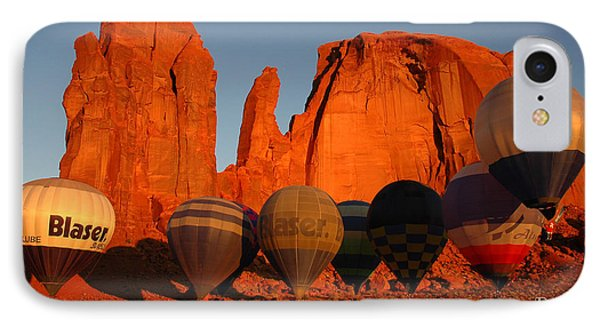 Dawn Flight In Monument Valley IPhone Case by Vivian Christopher