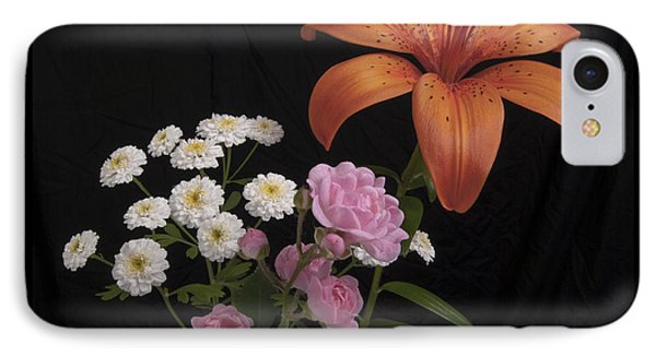 Daylily And Roses Phone Case by Michael Peychich