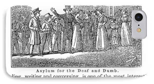Deaf And Dumb School, 1842 Phone Case by Granger