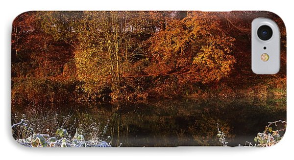 Deciduous Woods, In Autumn With Frost Phone Case by The Irish Image Collection
