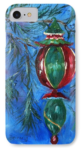 IPhone Case featuring the painting Deck The Halls by Carol Berning