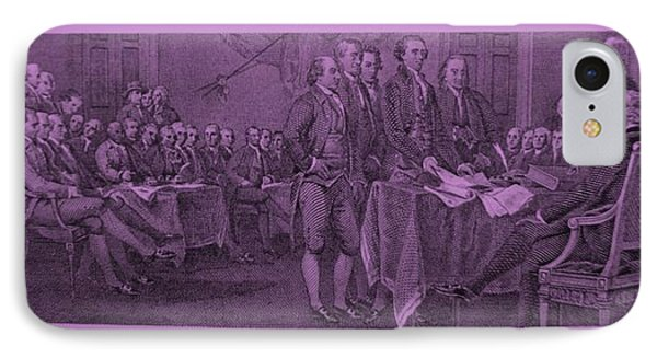 Declaration Of Independence In Pink Phone Case by Rob Hans