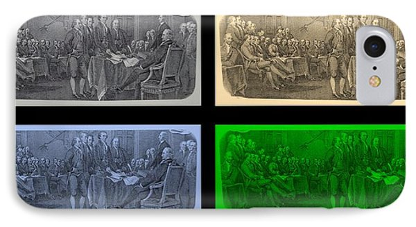 Declaration Of Independence In Quad Colors Phone Case by Rob Hans