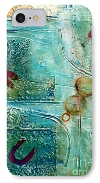 IPhone Case featuring the painting Declination by D Renee Wilson