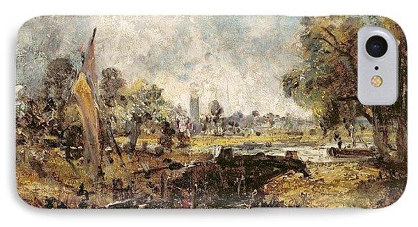 Dedham Lock Phone Case by John Constable