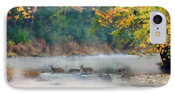 Deer Crossing River Phone Case by Dan Friend
